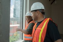 Chris Walker and Kwame Perry looking out at the cool view