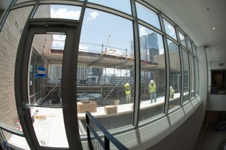 One of the 5th floor open patio common areas. This one faces East
